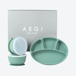 Silicone Suction Tabletop Gift Set - Sage - Set of 3