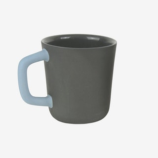 2-Tone Handle Mug - Black / Sky Blue