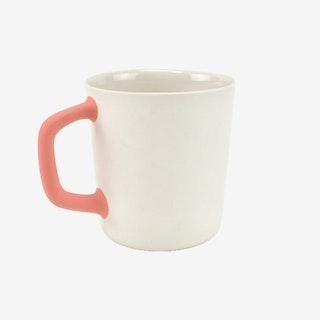 2-Tone Handle Mug - Ivory / Coral