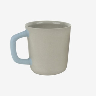 2-Tone Handle Mug - Sage Grey / Sky Blue