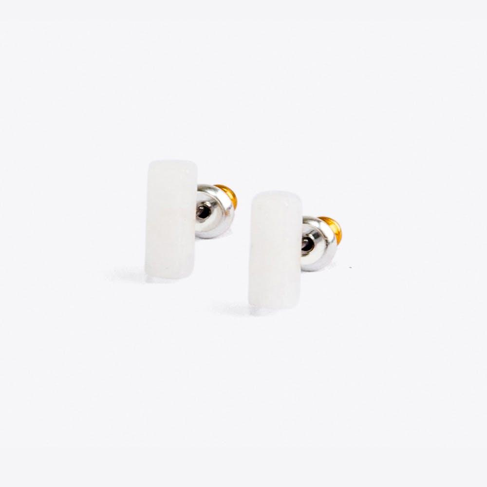 Opal Rectangular Earrings