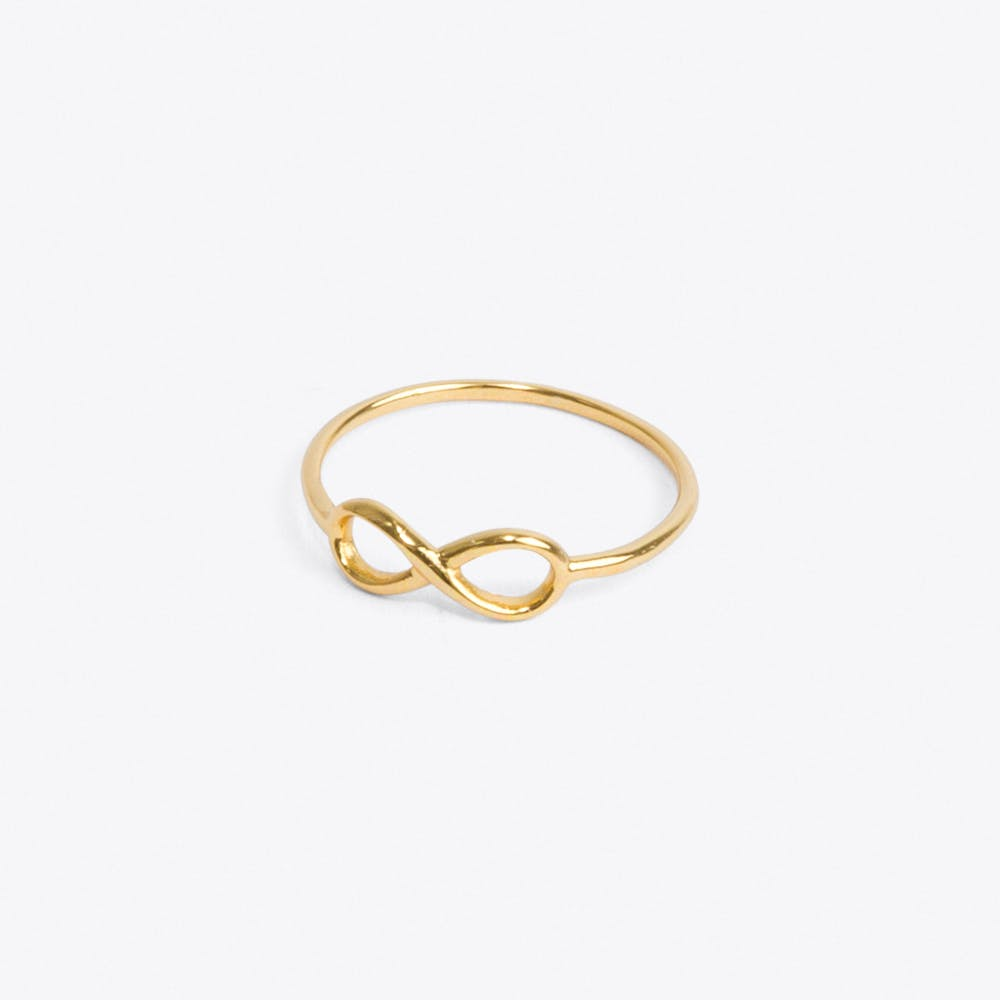 Infinity Ring in Pale Gold