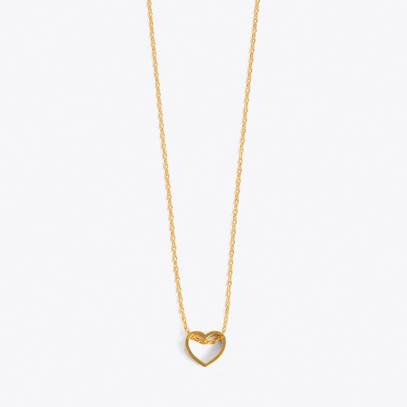 b08d7d9f2a7d5 Open Heart Necklace in Pale Gold by Orelia. Discover Necklaces on Fy