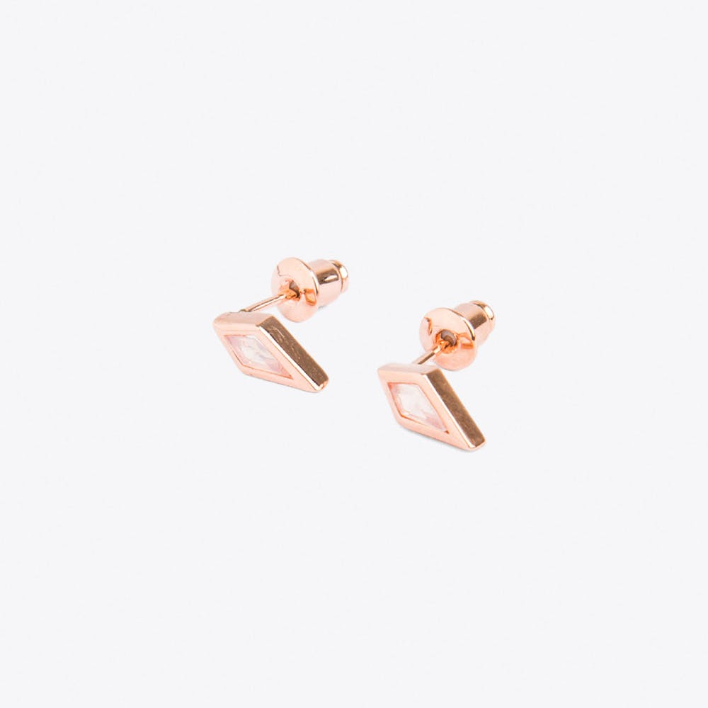 Crystal Kite Earrings in Rose Gold