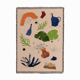 Floating Objects Woven Throw