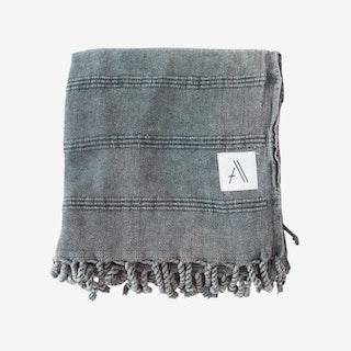 Kurios Stonewashed Blanket / Throw - Charcoal