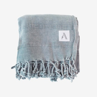Kurios Stonewashed Blanket / Throw - Denim