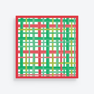Christmas Square Plaid Holiday Placemats - Paper - Set of 24
