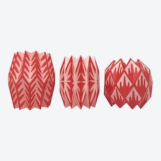 Vase Wraps - Coral - Set of 3