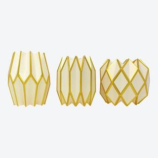 Vase Wraps - Gold Pearl - Set of 3