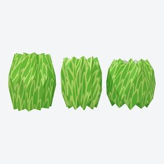 Vase Wraps - Green - Set of 3