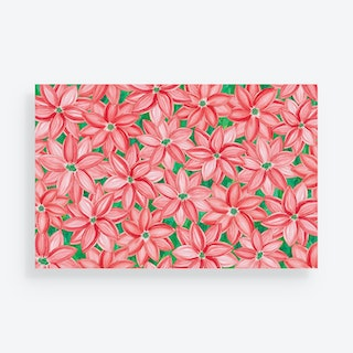 Poinsettia Holiday Placemats - Paper - Set of 24