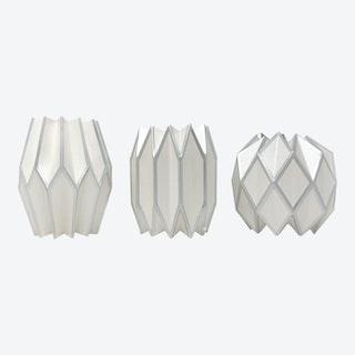 Vase Wraps - Silver Pearl - Set of 3