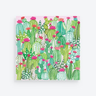 Cactus Square Placemats - Paper - Set of 24
