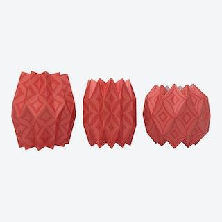 Vase Wraps - Cayenne - Set of 3