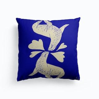 Seals In Love Canvas Cushion