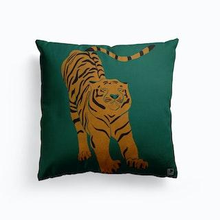 Tiger Doesnt Lose Sleep Canvas Cushion
