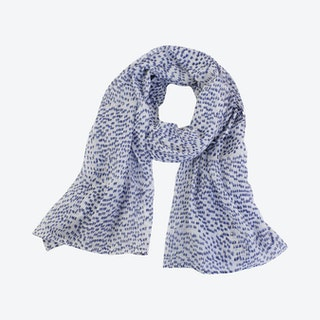 Shadow Dot Scarf - Navy