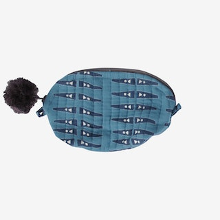 Anabel Crescent Pouch - Blue