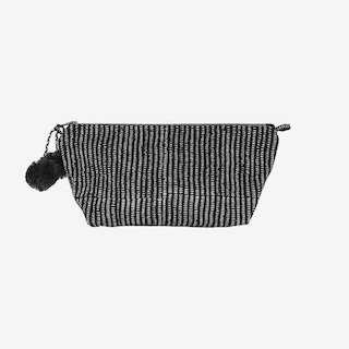 Alice Stripes Makeup Pouch - Midnight