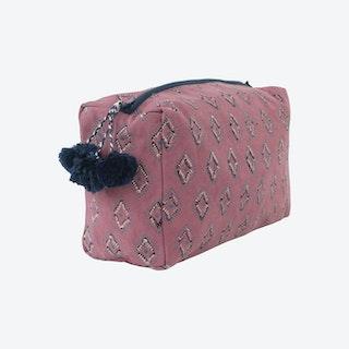 Essa Toiletry Bag - Rose / Blue