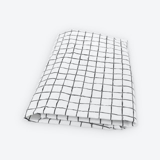 Cross Grid Fitted Crib Sheet
