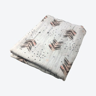 Feather Swaddle - Pink