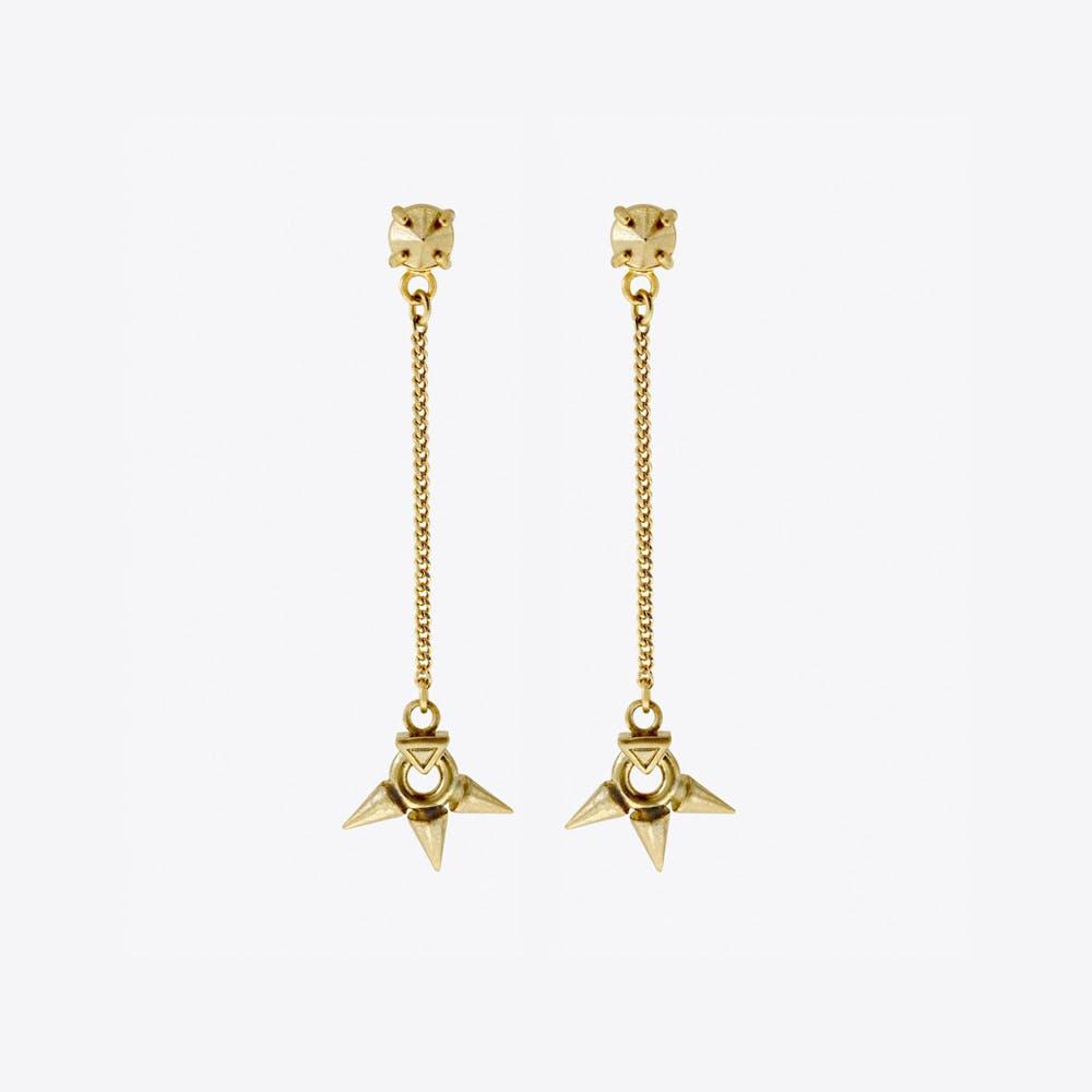 Rose Born Drop Earrings in Gold