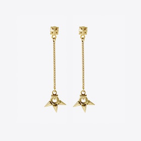 Rose Born Drop Earrings in Gold
