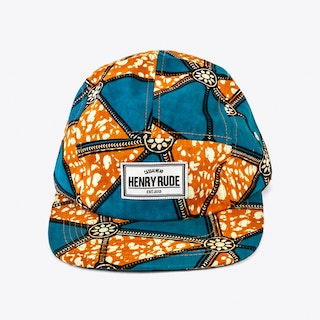 Mufasa Cap in Orange and Turquoise