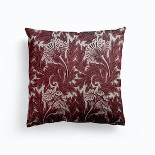 Tulip Chintz William Morris Canvas Cushion