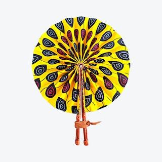 Ankara Folding Fan - Sunshine