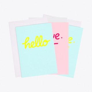 Mixed Neon Greeting Card Set