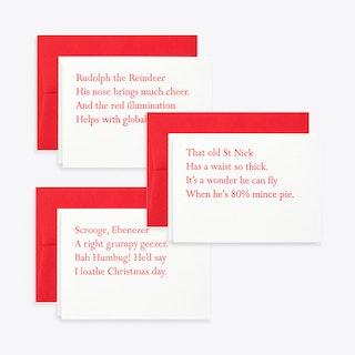 Christmas Clerihew Card Set