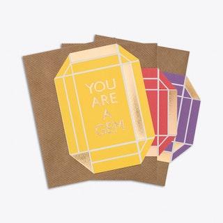 You Rock Gem Card Set