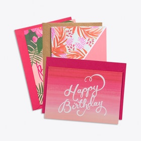 Birthday Cards in Pinks