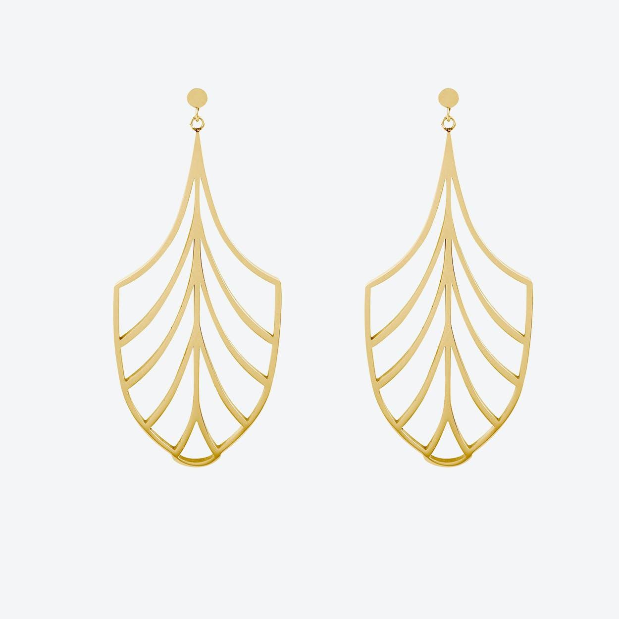 Chandelier Deco Drop Earrings in 18ct Rose Gold Plate