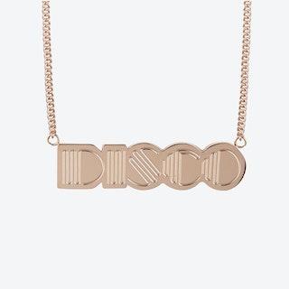 Disco Pendant in 18k Rose Gold Plate