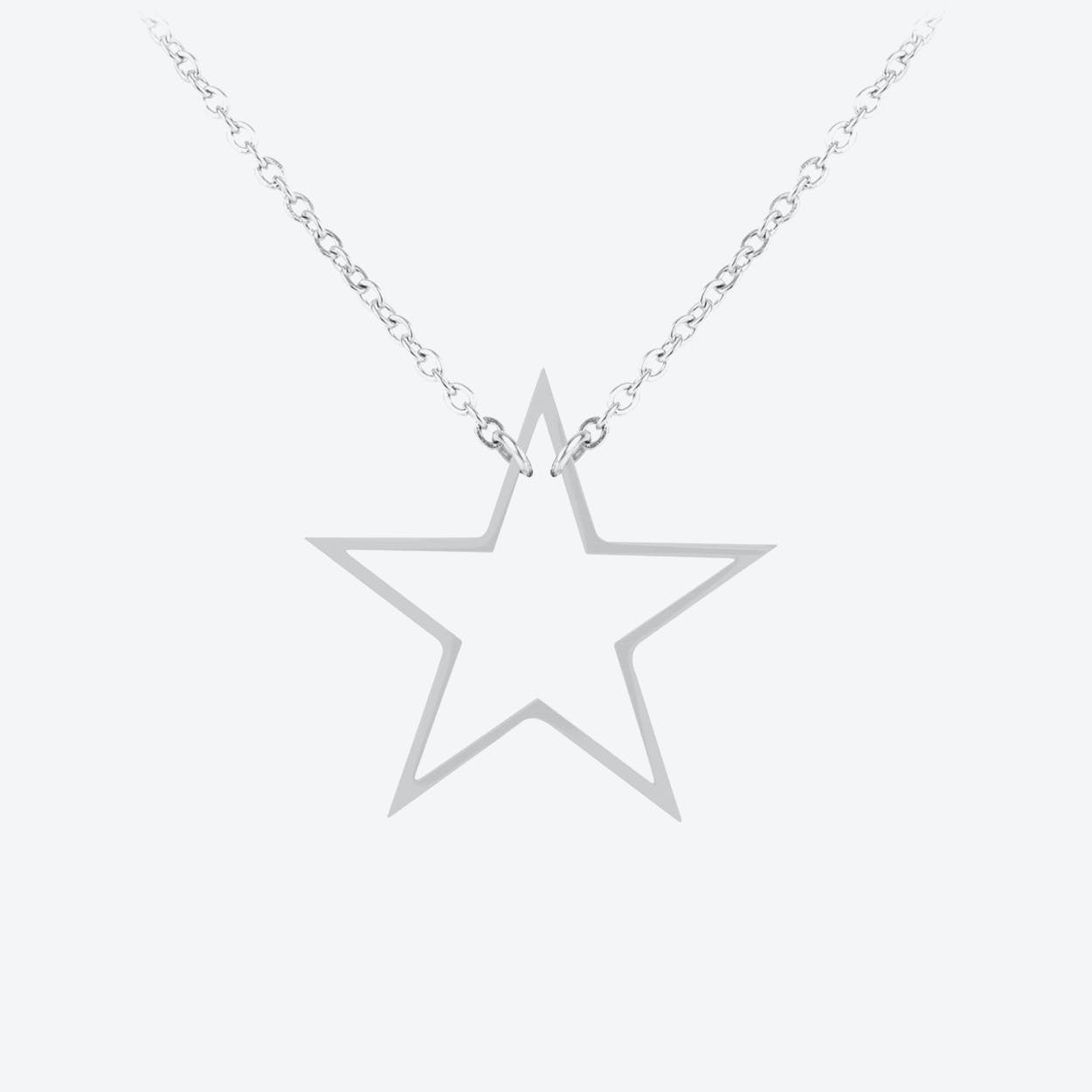 Star Pendant in Polished Stainless Steel
