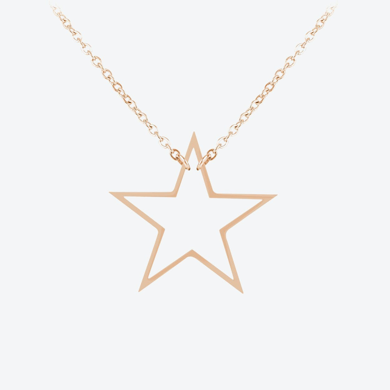 Star Pendant in 18k Rose Gold Plate
