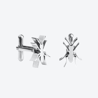 Ant Cufflinks in Polished Stainless Steel