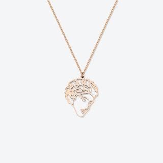 Flora Face Pendant  - John Soane's in 18kt Rose Gold
