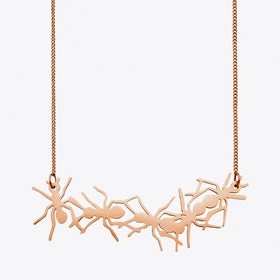 Ant Necklace in Rose gold