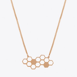 Honeycomb Necklace in Rose Gold