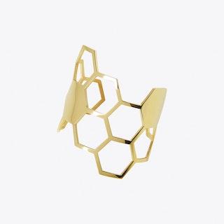Honeycomb Cuff in Gold