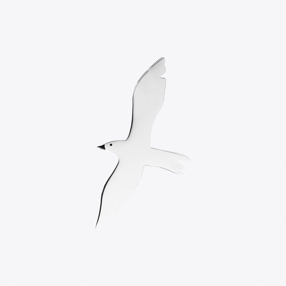 Seagull Brooch in Steel