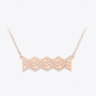 Geotriangle Pendant Rose Gold
