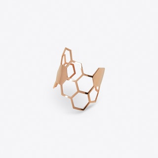 Honeycomb Ring Rose Gold