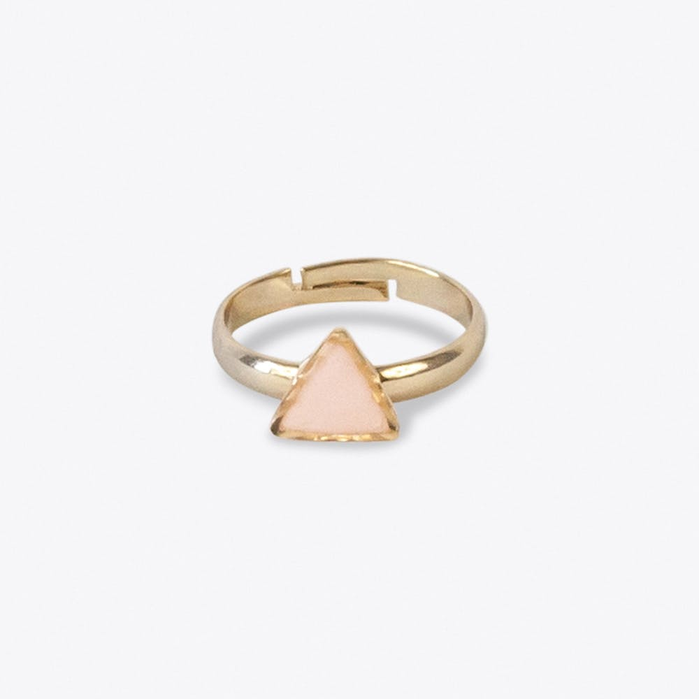 Tiny Triangle Ring in Peach