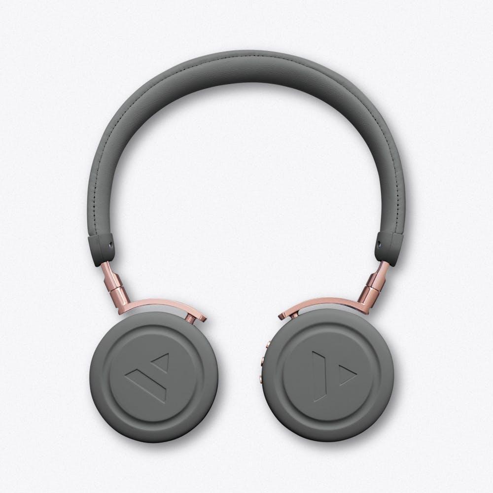 Commute Rail Grey Wireless Bluetooth Headphones